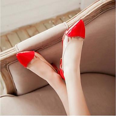 Damen Schuhe PU Sommer Komfort Sandalen Für Normal Weiß Rot