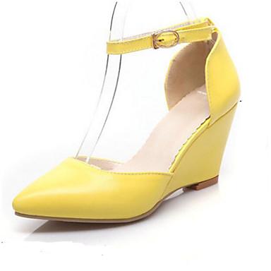 Damen Schuhe PU Sommer Komfort High Heels Für Normal Orange Beige Gelb