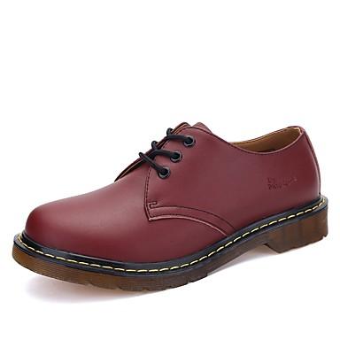 Férfi cipő Szintetikus Mikrorost PU Tavasz / Ősz Kényelmes Félcipők Fekete / Piros / Sötétbarna