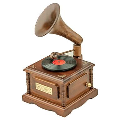 Zenedoboz Fonográf Vintage / Retro Retro / tettetés Gyermek / Felnőttek / Gyerekek Ajándék Uniszex