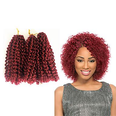 Hajfonás Jerry hajfürt Göndör fonás 100% kanekalon haj / Kanekalon Hair Zsinór 100% kanekalon haj / 3 db egy csomagban van. Általában 5-6 csomag elég egy teljes fej számára.
