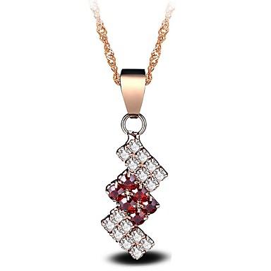 Női Szintetikus gyémánt Nyaklánc medálok - Sötétvörös