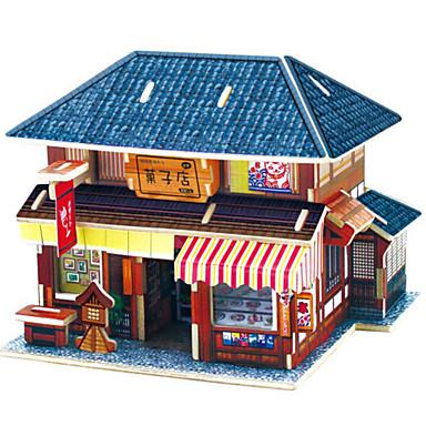 3D - Puzzle Holzpuzzle Holzmodelle Auto Haus Heimwerken 3D Hölzern Naturholz Klassisch Kinder Unisex Geschenk
