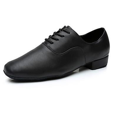 abordables Meilleures Ventes-Homme Chaussures de danse Croûte de Cuir Chaussures Latines Basket Talon Personnalisé Personnalisables Noir / Intérieur / EU43