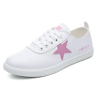 Damen Schuhe PU Sommer Komfort Sneakers Für Normal Schwarz Blau Rosa