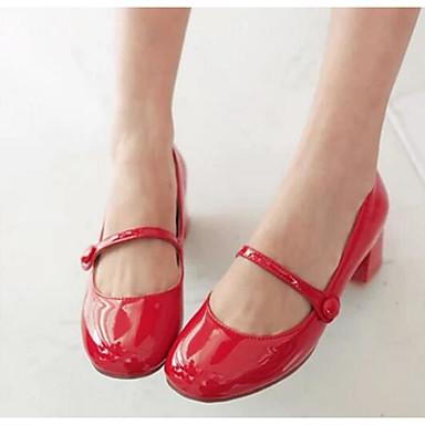 Damen Schuhe PU Frühling Komfort High Heels Für Normal Weiß Schwarz Rot Hautfarben