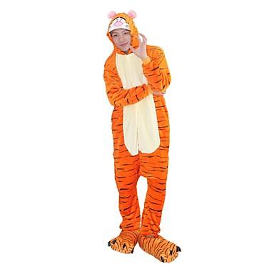 Kigurumi pizsama papuccsal Tigris Onesie pizsama Jelmez Φανελένιο Ύφασμα Cosplay mert Felnőttek Allati Hálóruházat Rajzfilm Halloween