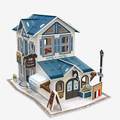 3D építőjátékok Fejtörő Papírmodell Népszerű épület Lakberendezési cikkek DIY Fa Gyermek Uniszex Ajándék