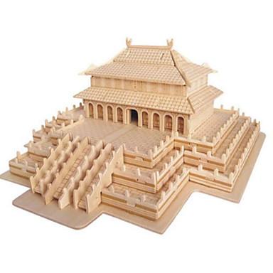 3D építőjátékok Fejtörő Népszerű épület DIY Fa Kínai stílus Gyermek Uniszex Ajándék