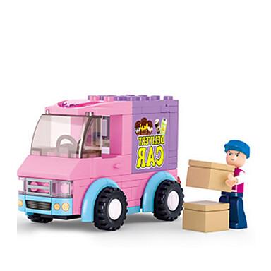 Tue so als ob du spielst Bausteine Minifiguren aus Blockbausteinen Spielzeuge Burg Haus Rechteck Tiere Kunststoff Mädchen Stücke