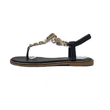 Damen Schuhe PU Sommer Komfort Sandalen Für Normal Schwarz Leicht Grün