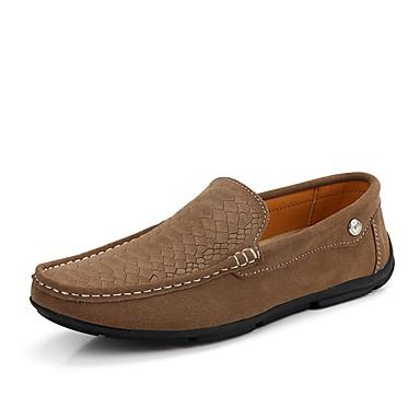 Herren Schuhe Künstliche Mikrofaser Polyurethan Herbst Winter Komfort Leuchtende Sohlen formale Schuhe Tauchschuhe Loafers & Slip-Ons Für