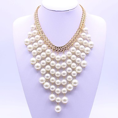 Women's Layered Necklace - Classic, Fashion White Necklace For Party, Gift, Daily