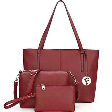 Damen Taschen Ganzjährig PU Bag Set 3 Stück Geldbörse Set für Normal Schwarz Rosa Grau Wein