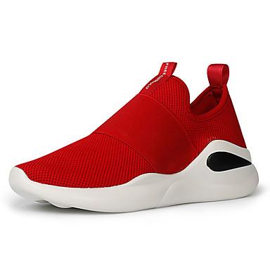 Férfi cipő Szövet Nyár / Ősz Kényelmes Sportcipők Gyalogló Fekete / Piros