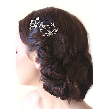 Drágakő és kristály / Tüll / Ötvözet Sisak / Hair Stick val vel Kristály / Toll 1 Esküvő / Különleges alkalom / Születésnap Sisak