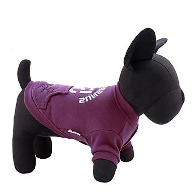 Hund Pullover Hundekleidung Lässig/Alltäglich Buchstabe & Nummer Grau Purpur Kostüm Für Haustiere