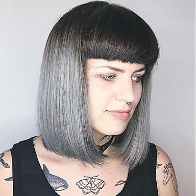Emberi hajszelet nélküli parókák Emberi haj Természetes hullám / Klasszikus Géppel készített Paróka Napi