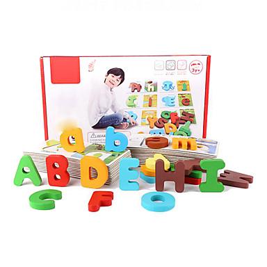 Társasjátékok / Fejtörő / Fejlesztő játék Szöveg Fa Darabok Fiú Gyermek Ajándék