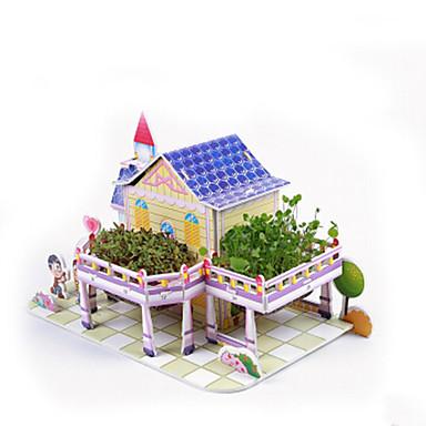 3D építőjátékok Fejtörő Népszerű épület Ház DIY hungarocell Papír Gyermek Ajándék