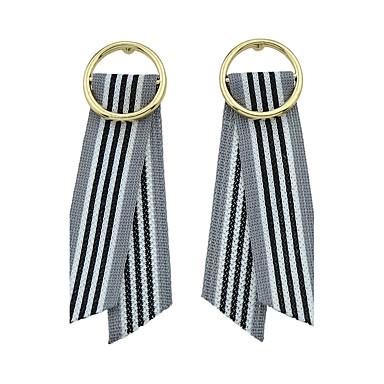 للمرأة أقراط قطرة مجوهرات تصميم بسيط أسلوب بسيط موضة سبيكة Round Shape Bowknot Shape مجوهرات من أجل يوميا فضفاض