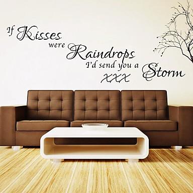 كلمات ومصطلحات رومانسية أزياء ملصقات الحائط لواصق حائط الطائرة لواصق حائط مزخرفة لواصق الزفاف مادة تصميم ديكور المنزل جدار مائي