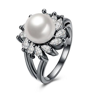 Női Luxus Gyöngy Gyöngy - Circle Shape / Geometric Shape Luxus / Bojt / Hip-Hop Fehér Gyűrű Kompatibilitás Parti / fokozatokra osztás /