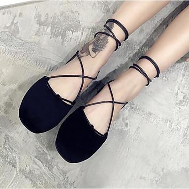 Damen Schuhe PU Sommer Komfort Sandalen Für Normal Schwarz Rosa