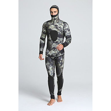 MYLEDI Homme 5mm Combinaison  Intégrale Etanche Garder au chaud Vestimentaire zip YKK Nylon SCR Néoprène Tenue de plongée Combinaisons -