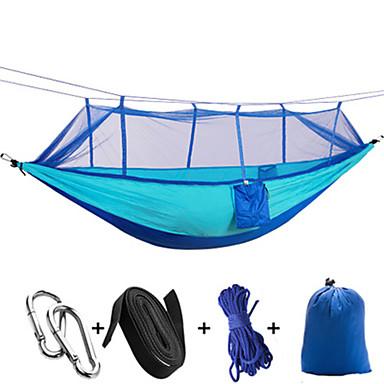 Campinghängematte mit Moskitonetz Anti - Moskito Faltbar Nylon für Camping Camping / Wandern / Erkundungen Draußen