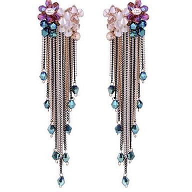 Damen Tropfen-Ohrringe individualisiert überdimensional Modisch Aleación Blumenform Schmuck Für Party Bühne