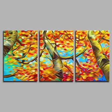 Hang festett olajfestmény Kézzel festett - Landscape Művészi Absztrakt Modern / kortárs Vászon