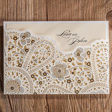 78e4b0307f37 Piegato Inviti di nozze 50-Invito Cards Cartoline per festa di fidanzamento  In rilievo Pergamena di carta del 6173744 2019 a  99.99