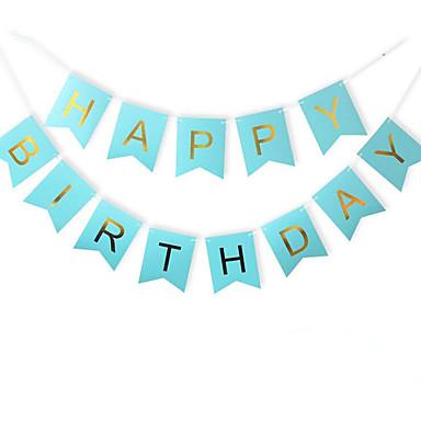 Különleges alkalom / Évforduló / Születésnap / Újszülött / Születésnapi buli Anyag Kártyapapír Esküvői dekoráció Ünneő Tavasz, Ősz, Tél,