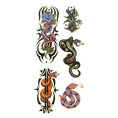 Pattern / Lower Back / Waterproof Hand / Arm / Wrist Temporary Tattoos 1 pcs Animal Series Body Arts