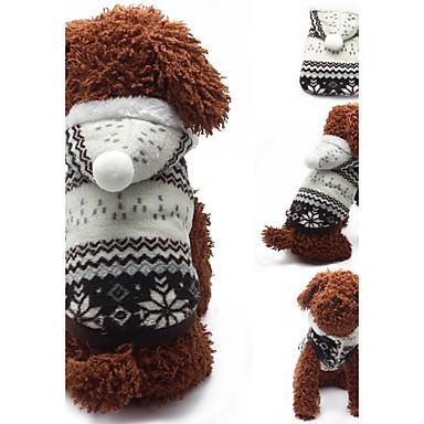 Hund Kapuzenshirts Hundekleidung Geometrisch Braun Rot Baumwolle Kostüm Für Haustiere Lässig/Alltäglich
