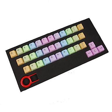 Abs 37 Schlüssel Hintergrundbeleuchtung Regenbogen Keycaps lila für mechanische Tastatur