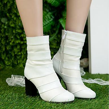 ... Femme Chaussures Similicuir Automne   Hiver Bottes à la Mode Bottes  Bottes Mode Talon Bottier Bout ... 5a062ac9d75c