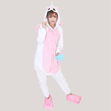 Felnőttek Kigurumi pizsama Unicorn Onesie pizsama Φανελένιο Ύφασμα Kék / Rózsaszín / Sárga Cosplay mert Férfi és női Allati Hálóruházat Rajzfilm Halloween Fesztivál / ünnepek