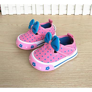 Mädchen Schuhe Stoff Frühling Herbst Komfort Lauflern Flache Schuhe Für Normal Rot Blau