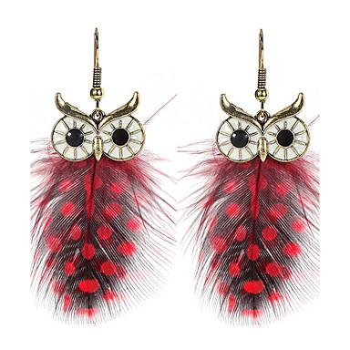 Women's Drop Earrings - Owl, Wings, Animal Classic, Bohemian, Boho Brown / Red / Green For Party / Halloween / Graduation