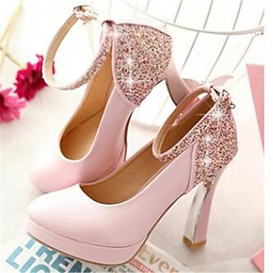 Damen Schuhe PU Frühling Winter Komfort High Heels Für Normal Rosa