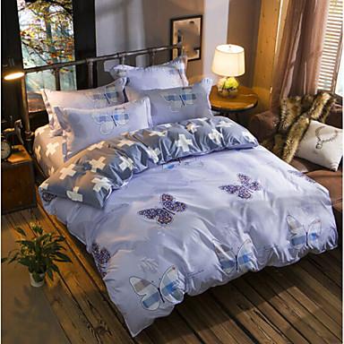 Karton 4 Stück Baumwolle Baumwolle 1 Stk. Bettdeckenbezug 2 Stk. Kissenbezüge 1 Stk. Betttuch