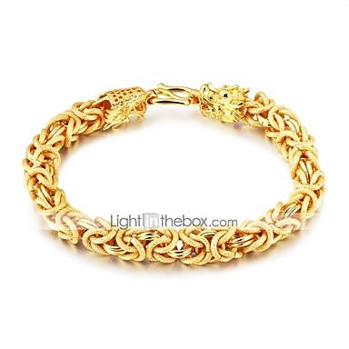 voordelige Herensieraden-Heren Armbanden met ketting en sluiting Rock Gothic Modieus Verguld Armband sieraden Goud Voor Straat Club
