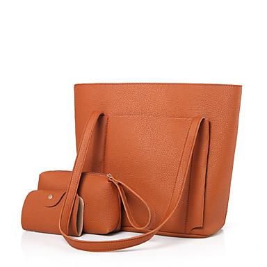 Damen Bag Sets PU Ganzjährig Normal Baguette Bag Reißverschluss Rote Rosa Grau Kamel