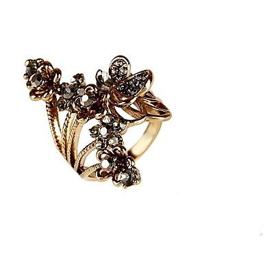 billige Motering-Dame Gull / Sølv Sølvplett / Gullbelagt / Legering Geometrisk Form Personalisert / Blomster / Klassisk Bryllup / Fest / Avslappet Kostyme smykker