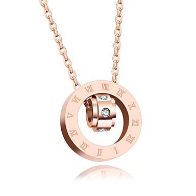 Női Luxus Szív Kocka cirkónia Nyaklánc medálok  -  Luxus Szerelem Nyilatkozat Vörös arany Nyakláncok Kompatibilitás Parti Születésnap