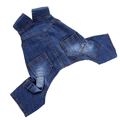 Dog Jumpsuit Dog Clothes Jeans Denim Costume For Pets Men's / Women's Casual / Daily
