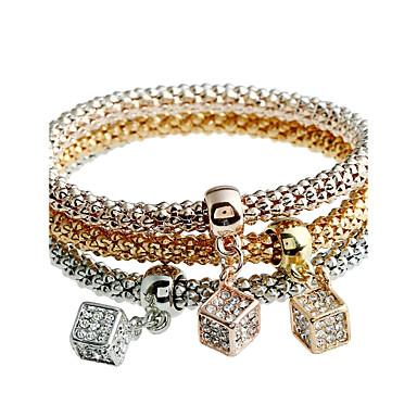 Női Szintetikus gyémánt Karperecek - Strassz Luxus, Természet, Punk Karkötők Arany Kompatibilitás Karácsony Iskola Szabadság