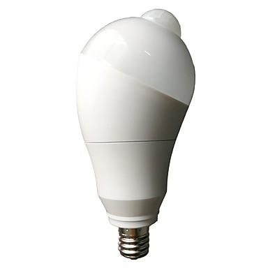 1pc 5 W 500 lm E26 / E27 LED Smart Bulbs 10 LED Beads SMD 5730 Sensor / Infrared Sensor / Light Control Warm White / Cold White 85-265 V / 1 pc / RoHS